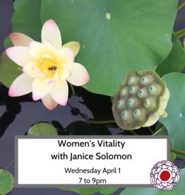 Maria Luisa Women's Vitality: Reclaiming your feminine energy- April 1