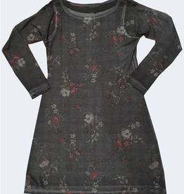 Nally & Millie Houndstooth Floral Print Dress