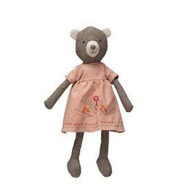 "Creative Co-op 18"" Plush Bear in Dress"