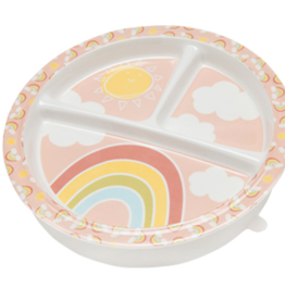 Ore Divided Suction Plate - Rainbows & Sunshine