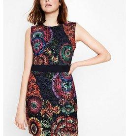Desigual Desigual, Bel Dress, Sleeveless w/ Bright Floral Lace
