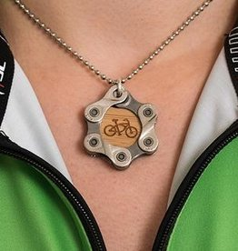 Resource Revival Bamboo, Chain Bike Pendant