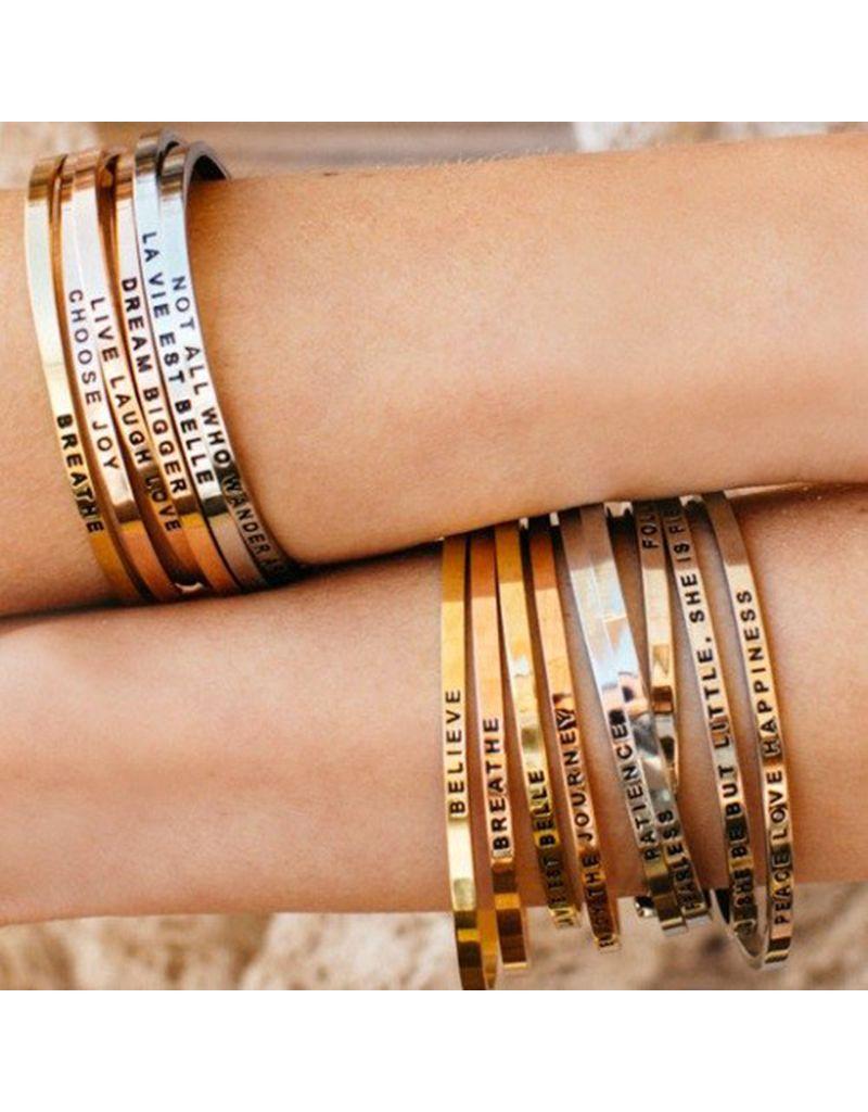 MantraBand Namaste Mantra Bracelet - Silver