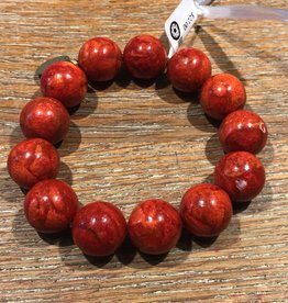 Nusantara spirit bracelet/coral round