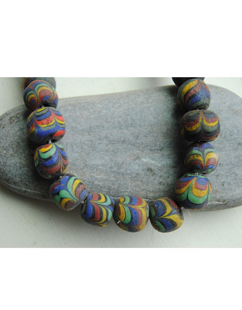 Nusantara Multicolor Glass Bead Necklace