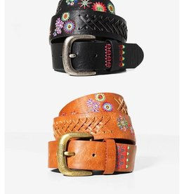 Desigual Embroidered Belt, Floral-Mex