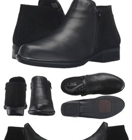 Naot/Yaleet Naot Helm Ankle Boot, Leather and Suede