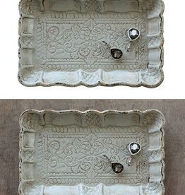 "Creative Co-op 7.25"" Decorative Wood Tray w/Scalloped Edge"