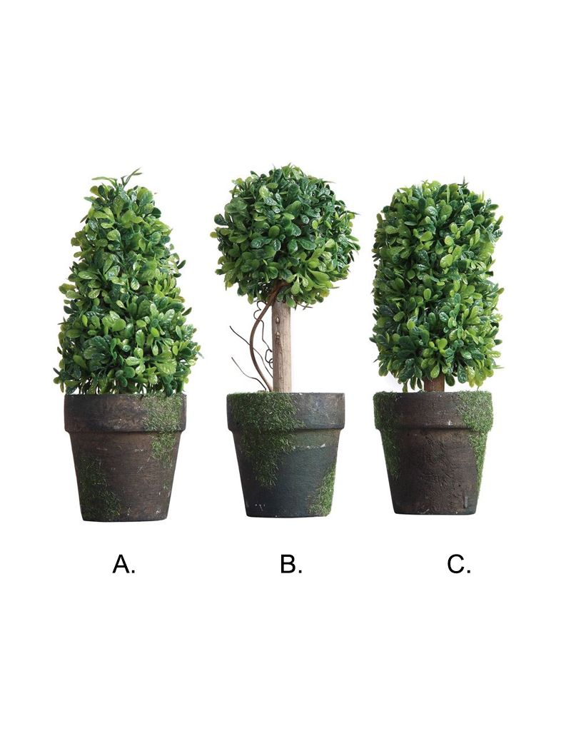 "Creative Co-op 6"" Topiary In Pot"