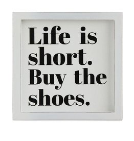 Creative Co-op 'Life Is Short' MDF Wall Plaque