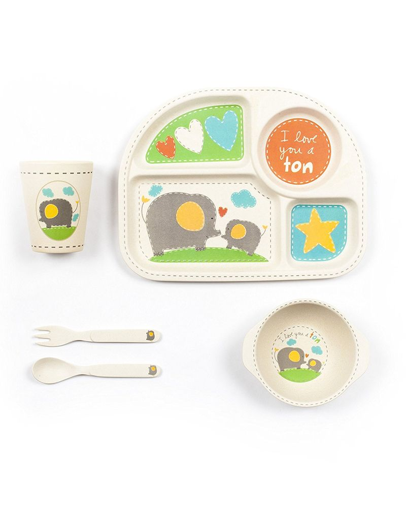 method Square Dinner Set 5pc with Elephant