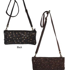 Latico Leathers Thea Small Leather, Metal Studded Crossbody Bag