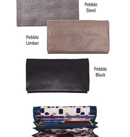 Latico Leathers Eloise Pebbled Leather Wallet, Clutch