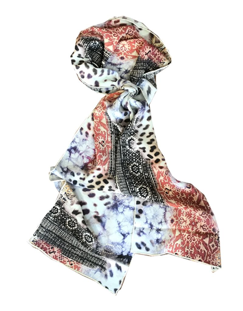 Tianello 'Have More' Printed Silk Scarf
