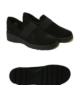 Relax Shoe Crema Suede Slip-On, Rubber Sole Shoe