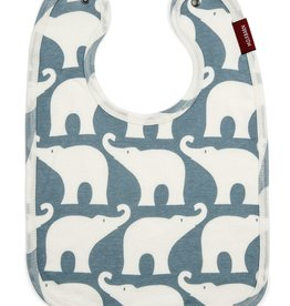 Milkbarn Traditional Bib - Blue Elephant