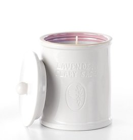 Soap & Paper Factory Lavender Clary Sage Ceramic Candle Farmacie
