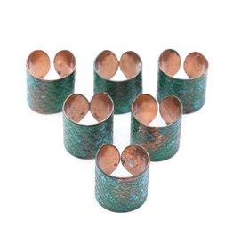 Matr Boomie Art Deco Scallop Ring-Patina