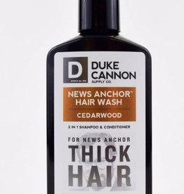 Duke Cannon News Anchor 2-in1 Hair Wash, Cedarwood