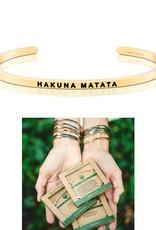 MantraBand Hakuna Matata Mantra Bracelet- Yellow Gold