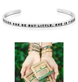 MantraBand She Is Fierce Mantra Bracelet - Silver