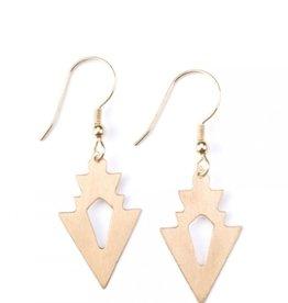 Mata Traders Petite Arrow Gold Earrings