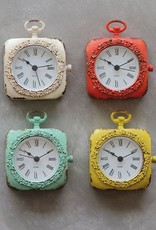 Creative Co-op Pewter Mantel Clock