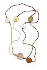 Dunitz & Company Long Coin Strand Necklace