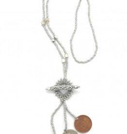 Dunitz & Company Macrame Toggle Coin Necklace