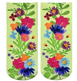 Living Royal Pressed Flowers Ankle Socks