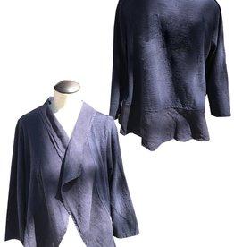 Cut Loose Ruffle Jacket-Linen Combo