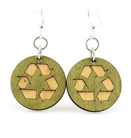 Green Tree Jewelry Recycle Earrings
