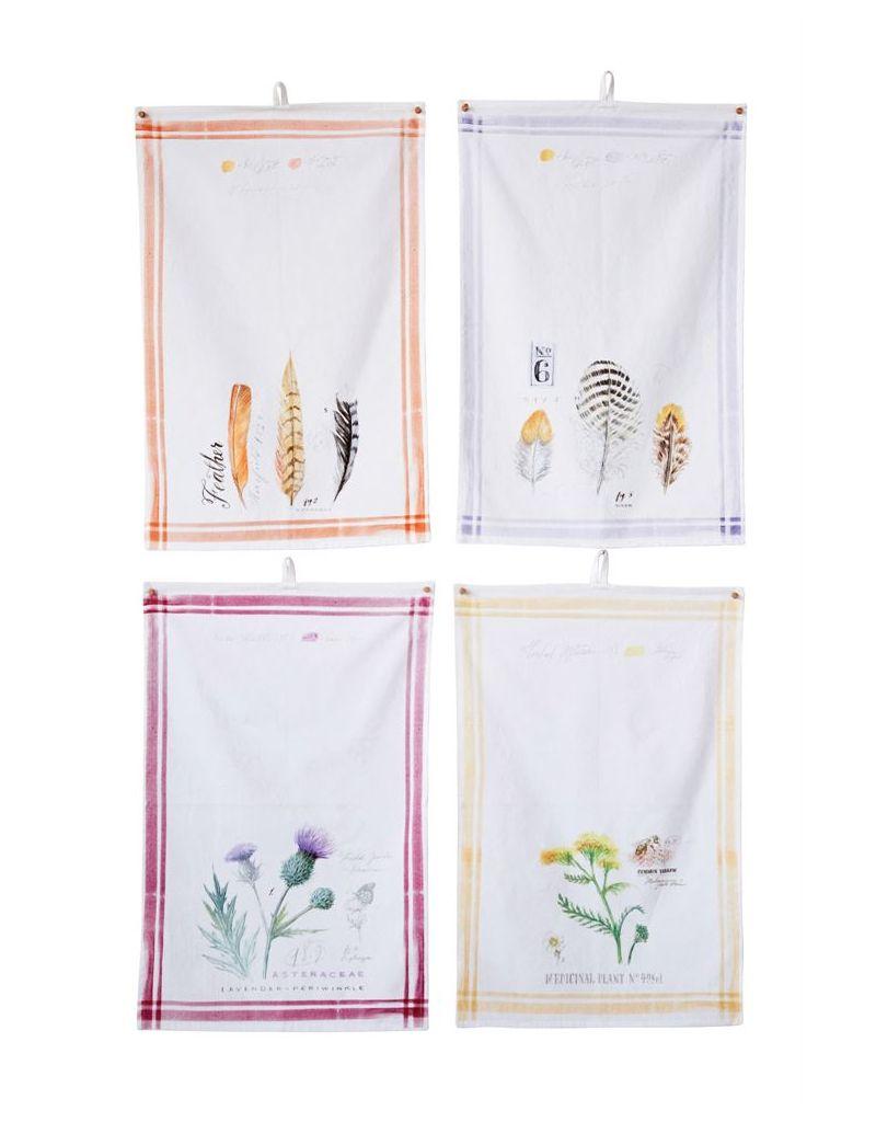 "Creative Co-op Cotton Printed Tea Towel (28""L x 18""W)"