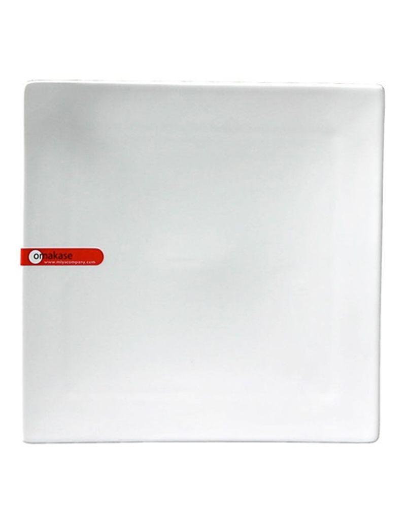 "Miya Company Corner Tipped 8.25"" Square Plate - White"