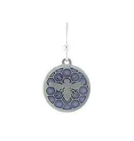 Earth Dreams Silver Bee's Royal Jelly Earrings, Purple