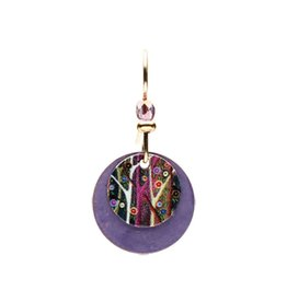 Earth Dreams Wisteria Disc Earrings