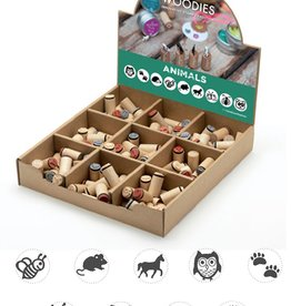 boston int Assort. Mini Animal wooden stamp