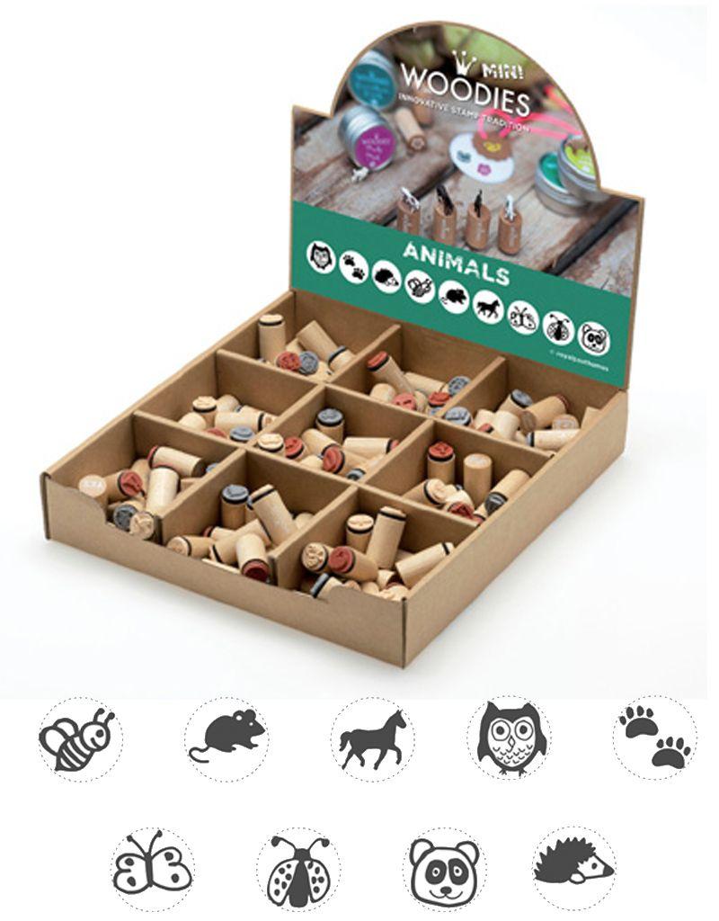 boston int Assort. Mini Animal wooden stamp