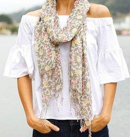 rockflowerpaper Carmella Tan Lux Scarf