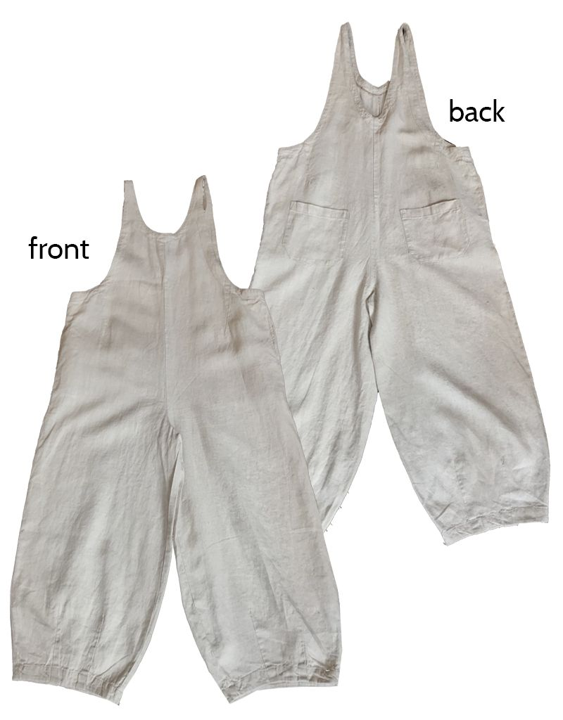 Cut Loose Overalls Natural Linen