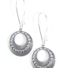 Clara Beau Small Silver Circle Earring