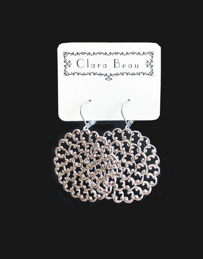 Clara Beau Large Silver Circle Earring