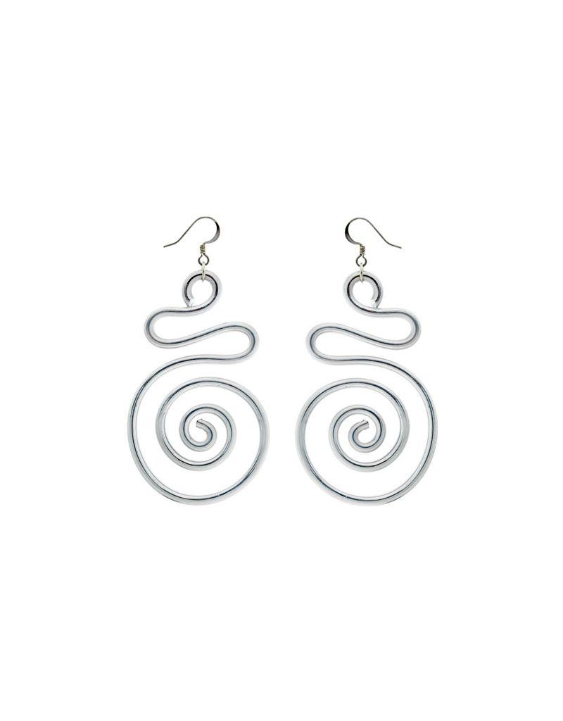 Jill Fagin S-shape Big Spiral Earrings