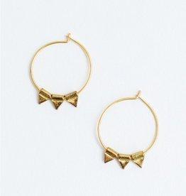 Mata Traders Gold Zander Hoop Earrings