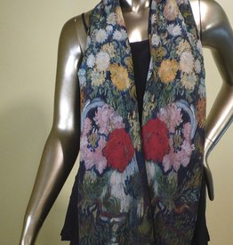 Cocoon House Vincent's Bouquet Silk Scarf