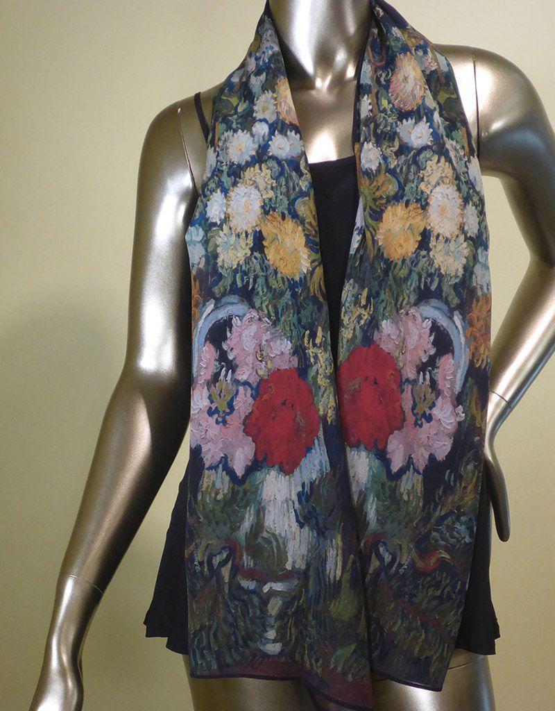 Cocoon House Vincent's Bouquet Silk Scarf
