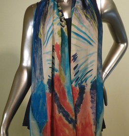 Cocoon House Matisse Tropical Fan Silk Scarf