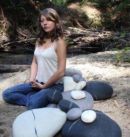 Zig Zag Extra Large Felted Wool Zen Stone Pebble