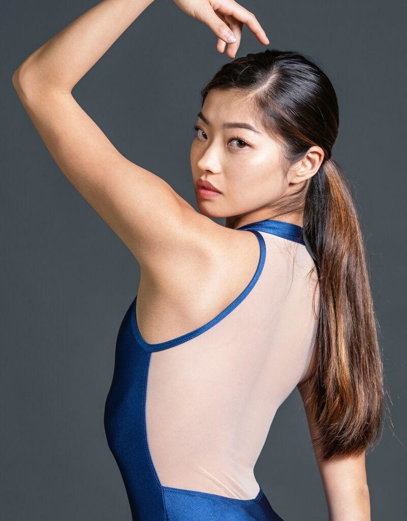 W/S Adult Apparel Radiance zip front tank with mesh back