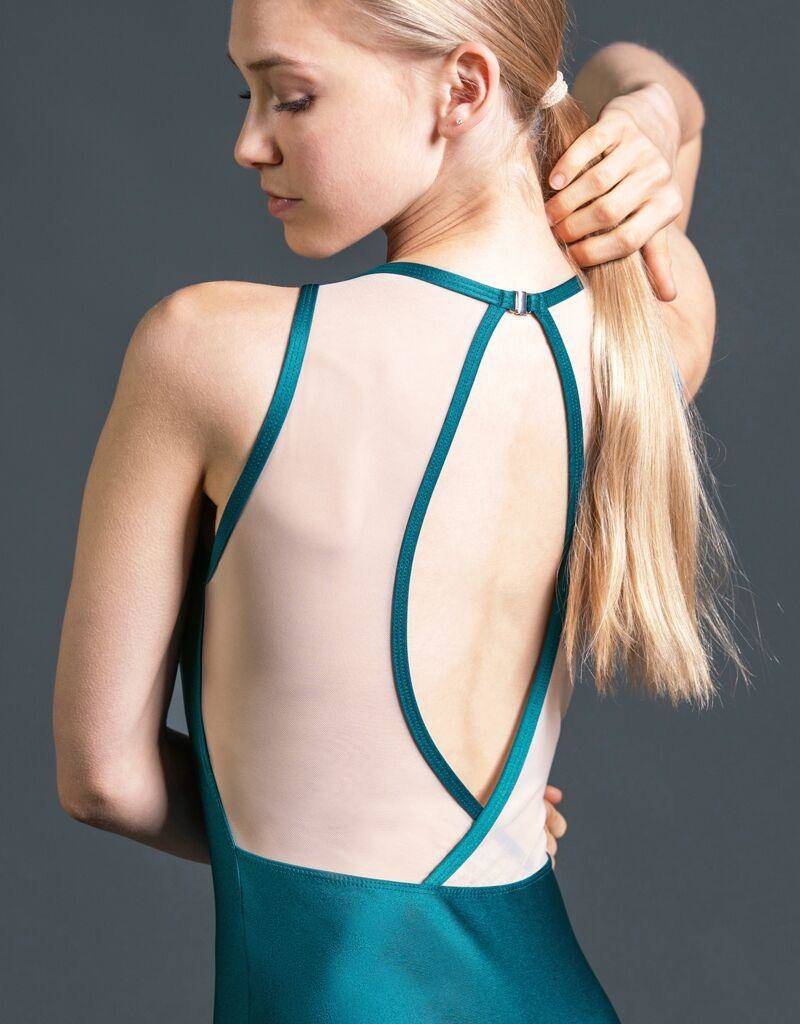 W/S Adult Apparel Radiance jewel neck with mesh fish back